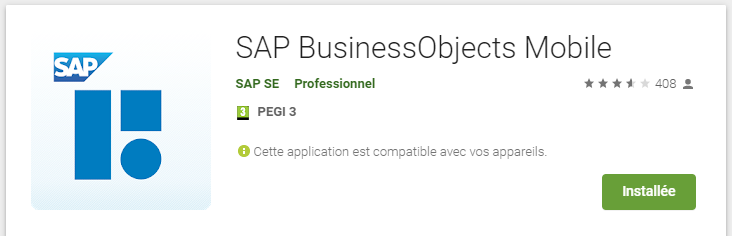 Téléchargez les mises à jour de SAP BO Mobile sur le SAP Store