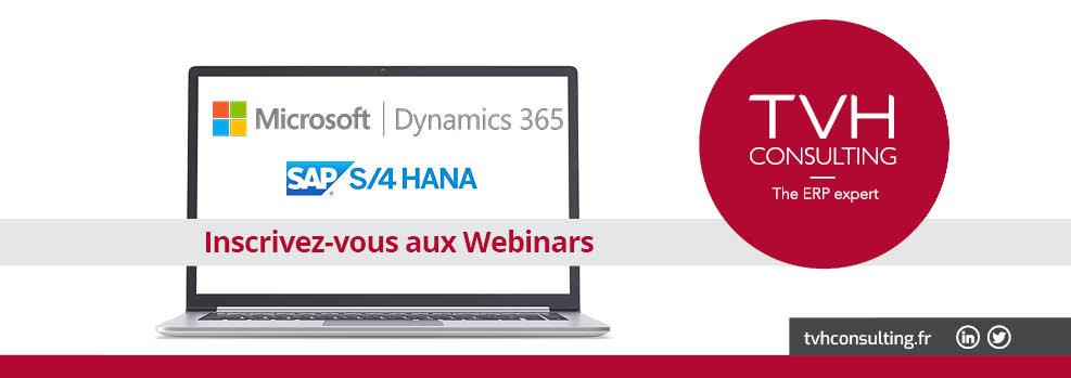 Webinars Microsoft Dynamics 365 et SAP S/4 HANA