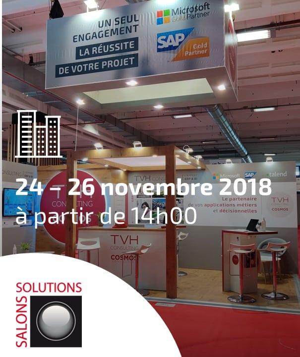 Salon Solution ERP 2018 avec la présence de TVH Consulting