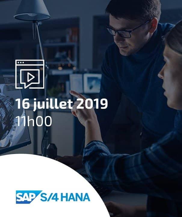 Webinar : faites vos premiers pas sur SAP S/4HANA
