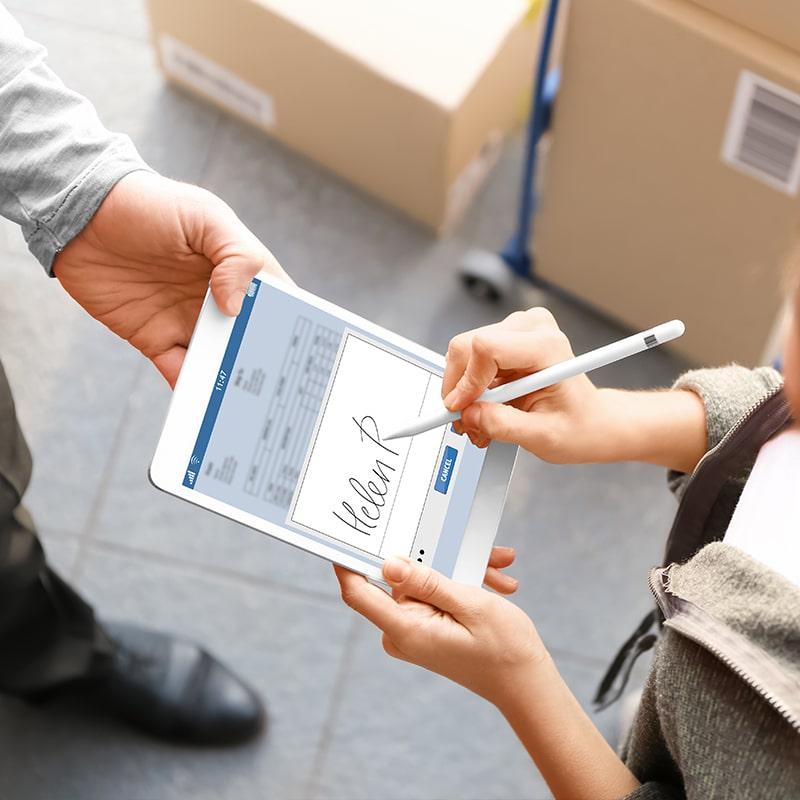 POWERAPP ADAX Signature électronique, une application pour signer le bon de commande à la réception