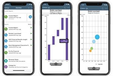 SAP BusinessObjects BI : version mobile