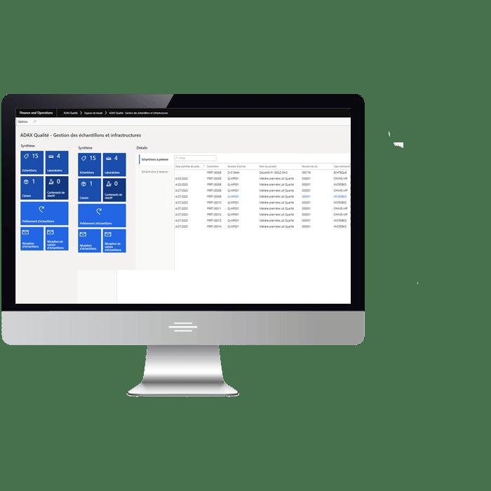 Application ADAX pour la gestion de la qualité